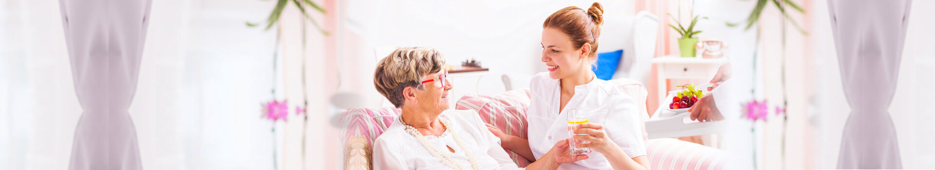 caregiver taking care of a senior